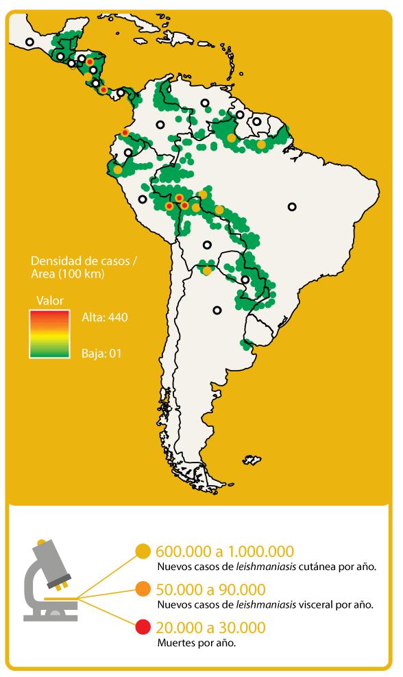 Map Leishmaniasis Burden South America
