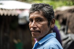Chagas patient standing in front of his house in Mexico