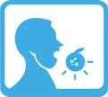 Ingestão oral de alimentos contaminados